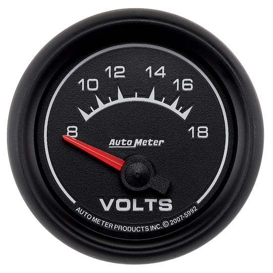 Auto Meter 5992 ES Air-Core Electric Voltmeter Gauge, 2-1/16 Inch, 18V