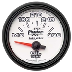 Auto Meter 7548 Phantom II Air-Core Oil Temperature Gauge, 2-1/16 Inch