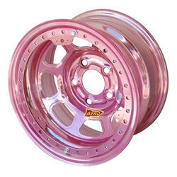 Aero 53-985010PIN 53 Series 15x8 Wheel, BL, 5 on 5 BP, 1 Inch BS IMCA