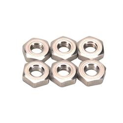 Aluminum Jam Nuts, 10-32 LH, Pack/6
