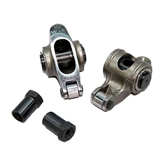 SBC Stainless Roller Rocker Arms, Split Ratio, 3/8 Stud