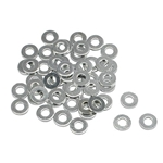Steel 1/4 Inch AN4 Washers, 50 Pack