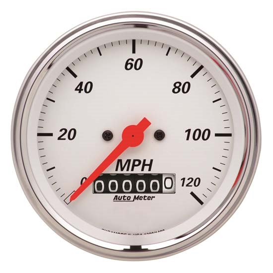 Auto Meter 1379 Arctic White Air-Core Speedometer Gauge