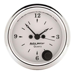 Auto Meter 1686 Old-Tyme White Quartz Clock Gauge, 2-1/16 Inch