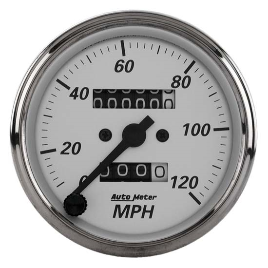 Auto Meter 1993 American Platinum Mechanical Speedometer Gauge