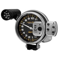 Auto Meter 6836 Carbon Fiber Air-Core Pedestal Tachometer Gauge
