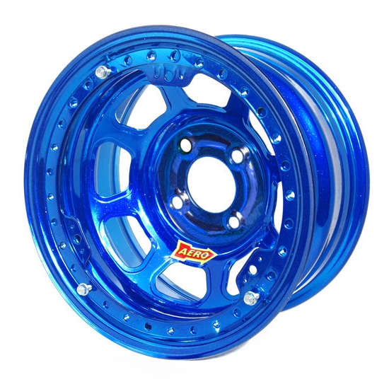 Aero 33-974510BLU 33 Series 13x7 Wheel, Lite 4 on 4-1/2 BP 1 Inch BS