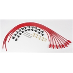 Taylor Cable 70255 8mm Spark Plug Wires, Straight, Resistor Core, Red