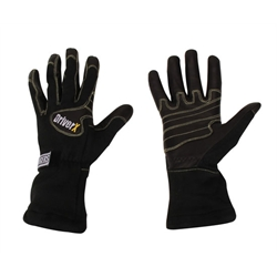 Ringers Driver-X Single Layer SFI-3 Racing Gloves, Black Size XL
