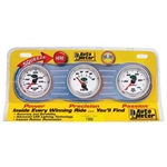 Auto Meter 7300 NV Interact Pack Mechanical Gauge Set, Oil/Water/Volt