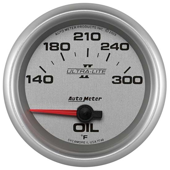 Auto Meter 7748 Ultra-Lite II Air-Core Oil Temperature Gauge