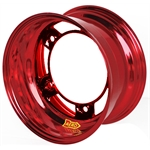 Aero 50-920540RED 50 Series 15x12 Wheel, 5 on WIDE 5 BP, 4 Inch BS