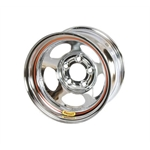 Bassett 50L52C 15X10 Inertia 5 on 5 2 Inch Backspace Chrome Wheel