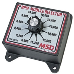 MSD 8674 RPM Module Rev Limiter Selector Switch, 9000-11,200 RPM