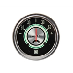 Stewart Warner 690W Green Line Ammeter Gauge, 2-5/8 Inch