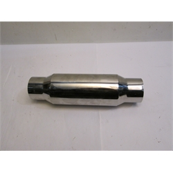 Garage Sale - Polished Stainless Steel Muffler, 16Inches Long, 3.5 Inch In/Out