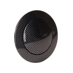 GM Aluminum Carbon Fiber Steering Wheel Horn Button, 9 Bolt