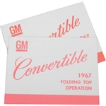 67 Convertible Top Instruction Manual