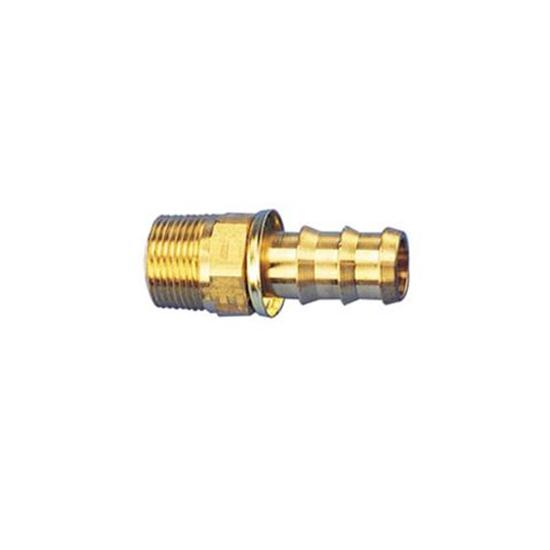 Straight Socketless Push-On Fitting, 30 Degree Taper, -6 AN to 1/4 NPT