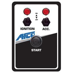 AFCO 85053B Starter Switch Panel with Lights, 4-1/8 x 5-7/8 Inch