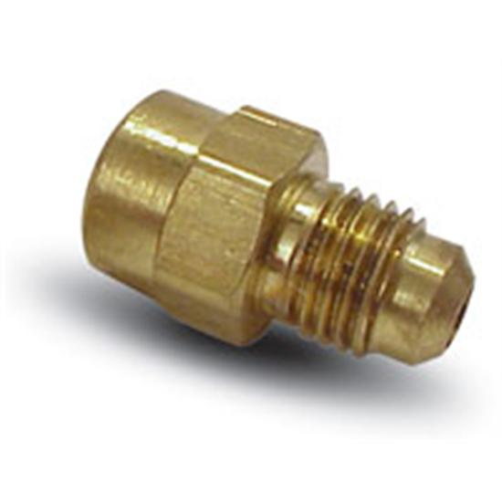 AFCO 85259 Brass Gauge Fitting Adapter, 1/8 Inch Female Pipe to -4 AN