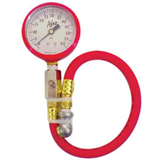 AFCO 85360R 0-60 psi Tire Air Pressure Gauge, Red