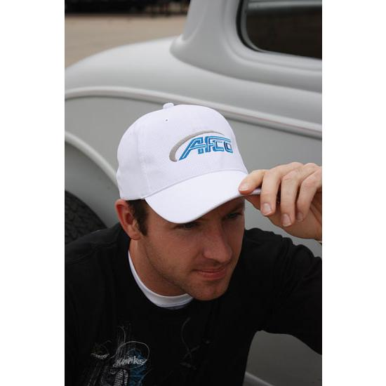 AFCO White Front Imprint Hat