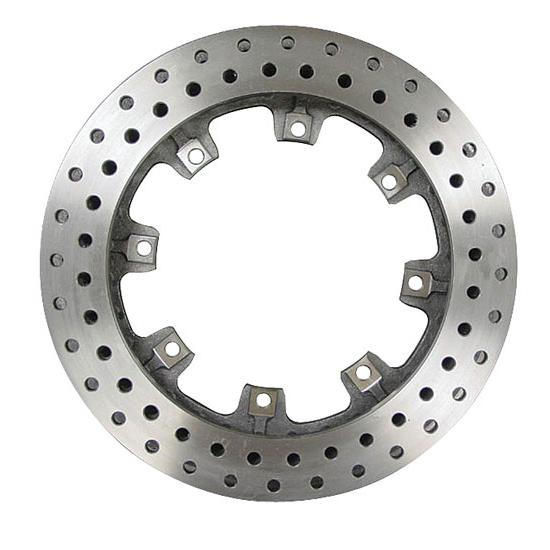 AFCO 9850-6121 Straight Vane Brake Rotor, Drilled, 11.75 x .81 Inch