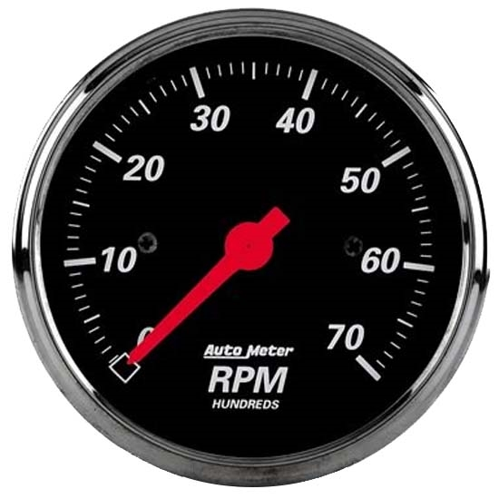 Auto Meter 1498 Designer Black Air-Core In-Dash Tachometer Gauge