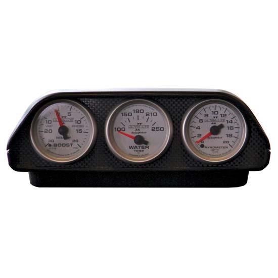 Universal Auto Gauges : Auto meter universal triple gauge dash top pod