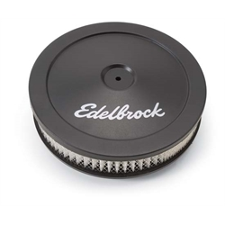 Edelbrock 1203 Signature Series Black Air Cleaner Assembly, 2 Inch