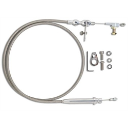 Lokar KDP-2350HT TH350 Hi-Tech Kickdown Cable Kit, Polished