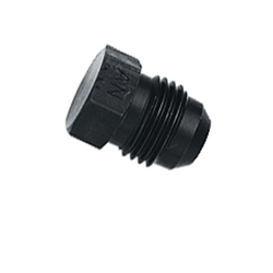 Aluminum Flare Fitting Plug, Black, -8 AN