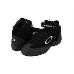 Oakley Black Crew Shoe, Size 8, High Grip Rubber Soles, Split Suede