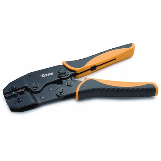 titan tools 11477 ratcheting wire terminal crimper ebay. Black Bedroom Furniture Sets. Home Design Ideas