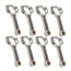 Scat 25700716 Small Block Chevy 4340 I-Beam Rods, 5.7 Inch, Bushed Pin