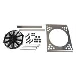 Electric Fan Shroud w/ One Fan, 21-24 Inch Tank-to-Tank x 14-17 Inch