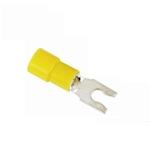 Snap Spade Style Terminals, 6-32 Yellow, 12-10 Gauge