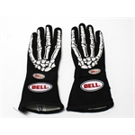 Garage Sale - Bell Black Skeleton Racing Gloves, Small, Double Layer SFI 7