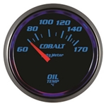 Auto Meter 6148-M Cobalt Air-Core Oil Temperature Gauge, 2-1/16 Inch