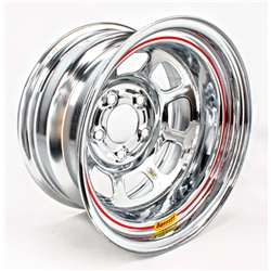Bassett Wissota Certified D-Hole Wheel, 15x8, 5 on 5 Inch, Chrome