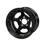 Bassett 58AF3L 15X8 Inertia 5 on 4.5 3 Inch BS Black Beadlock Wheel