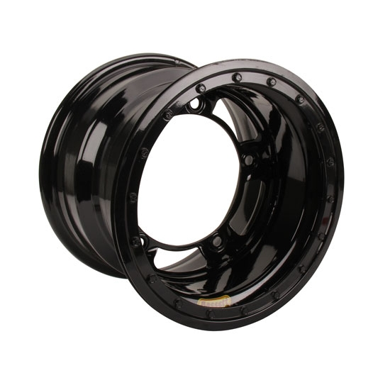Bassett 58SR4L 15X8 Wide-5 4 Inch BS Black Beadlock Wheel