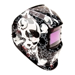 Titan Tools 41285 Skull/Chain Solar Powered Auto Darkening Welding Helmet