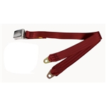 Garage Sale - Beams Chrome Lift Latch Lap Adjustable DOT Approved Seat Belt, Maroon