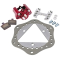 Ultra-Lite Sprint Car Left Front Brake Kit, Titanium Rotor, Scalloped