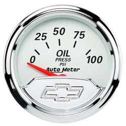 Auto Meter 1327-00408 Chevy Vintage Air-Core Oil Pressure Gauge