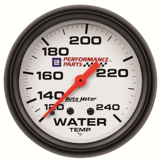 Auto Meter 5832-00407 GM White Mechanical Water Temperature Gauge