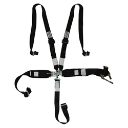 Hooker Harness 5 Point Harness, Latch &amp; Link, 3 Inch Lap/Shoulder