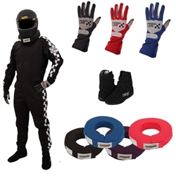 Finishline Qualifier Single-Layer One-Piece Racing Suit Combos